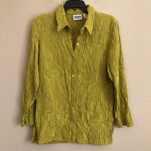 Vintage Chico's Design Long Sleeve Button Shirt